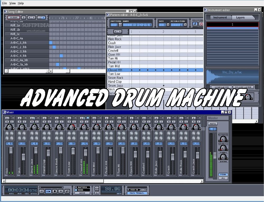 advanced drum machine 2019 studio beat making software 7 8 10 ebay. Black Bedroom Furniture Sets. Home Design Ideas
