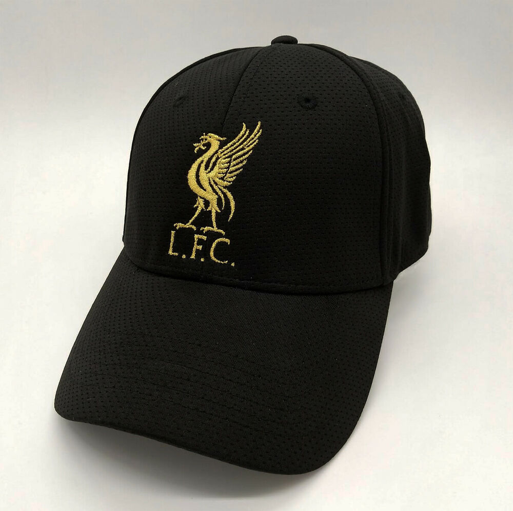 618f8f69724 Details about Liverpool FC Black Baseball Hat with Gold Logo Free Worldwide  shipping from EU