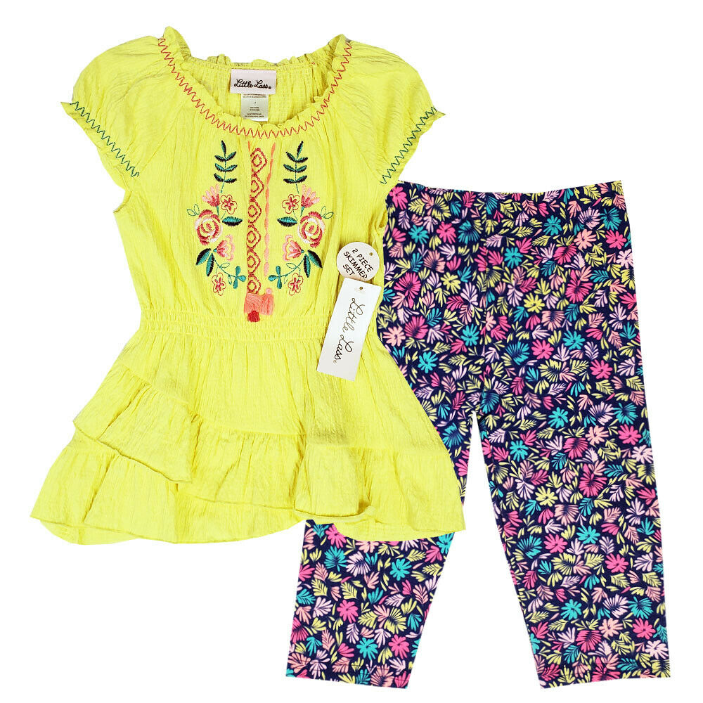 7b19b537ff72c Details about Little Lass New W/ Tags 2-Pc Girls Yellow Skimmer Blouse Legging  Set Size 4-6X