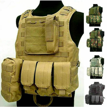 img-Adjustable Military Tactical Vest Airsoft Paintball / Molle / Plate Holder