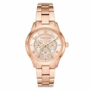 Michael Kors Runway Rose Dial Rose Gold-tone Ladies Watch MK6589