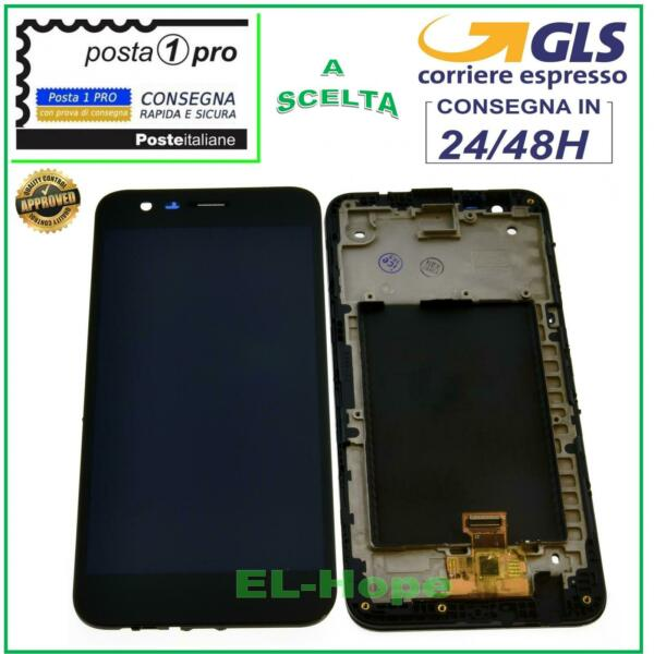 DISPLAY LCD + FRAME PER LG K10 2017 M250 M250N TOUCH SCREEN SCHERMO VETRO NERO