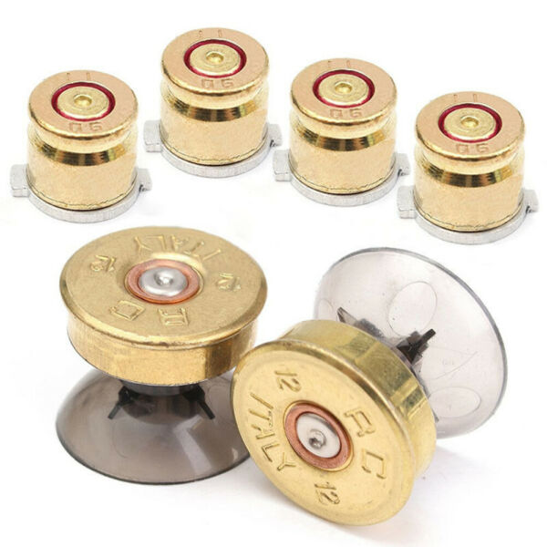 6Pcs Replace Metal Bullet Buttons Thumbstick Kit for Sony PS4/PS3 Controller