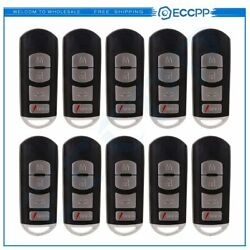 QTY 10 Keyless Entry Remote Car Key Fob Shell Case Cover  for 13-16 Mazda 3 6