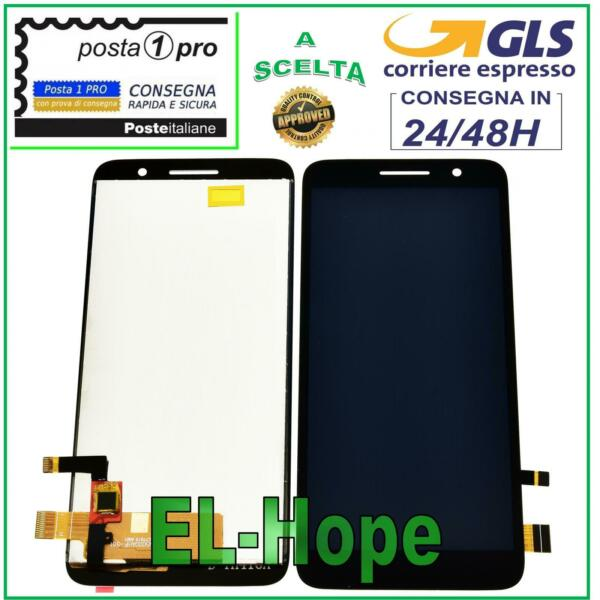 DISPLAY LCD ALCATEL ONE TOUCH 1 5033 X 5033D-2AALWE1 TOUCH SCREEN VETRO NERO