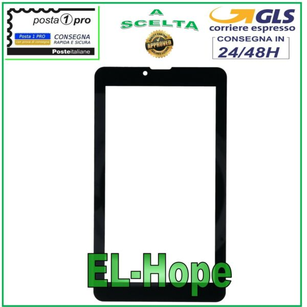VETRO PER TOUCH SCREEN MAJESTIC TAB 747 GLASS ORIGINALE NERO + BIADESIVO