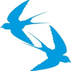 Window Wall Vehicle Display New Flying Swallows Silhouette Decal Vinyl Sticker