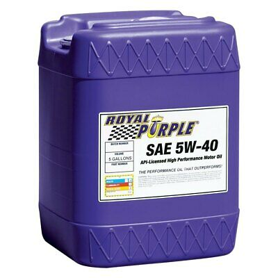 Royal Purple API-Licensed Multi-Grade SAE 5W-40 Synthetic Motor Oil, 5 Gallons