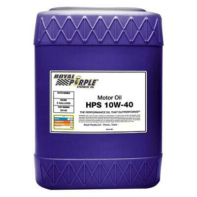 Royal Purple HPS SAE 10W-40 Synthetic High Performance Motor Oil, 5 Gallons