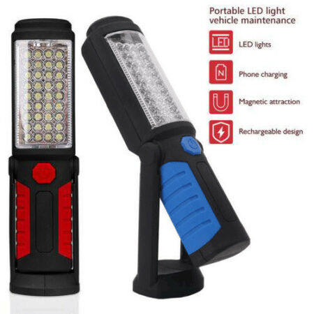 img-LED COB Hand Torch Inspection Lamp Magnetic Work Light Up Flexible Rechargeable
