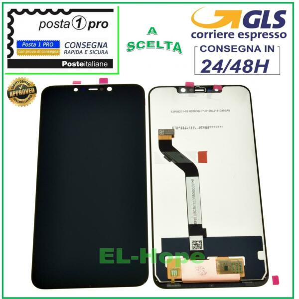 DISPLAY LCD XIAOMI POCOPHONE F1  TOUCH SCREEN SCHERMO MONITOR VETRO NERO