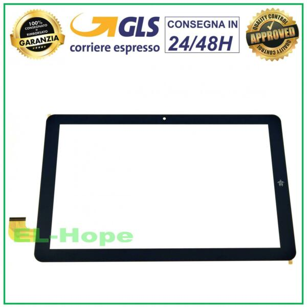 TOUCH SCREEN VETRO MEDIACOM SMARTPAD 10 ECLIPSE M-SP1AEC M-SP1BEC ORIGINALE NERO
