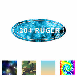 Ammo .204 Ruger - Vinyl Decal Sticker - Multiple Patterns & Sizes - ebn30