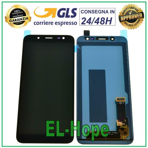 DISPLAY LCD SAMSUNG GALAXY J6 2018 SM J600F N TOUCH SCREEN VETRO SCHERMO NERO