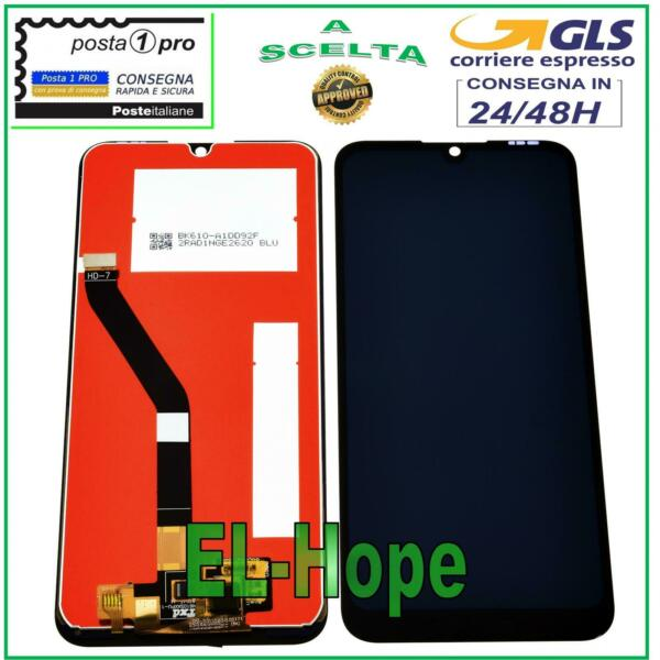 DISPLAY LCD HUAWEI Y6 2019 MRD-LX1 LX2 TOUCH SCREEN SCHERMO MONITOR VETRO NERO