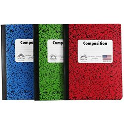 Kyпить NEW COMPOSITION NOTEBOOK - 100 SHEETS - WIDE RULED 200 PAGES на еВаy.соm