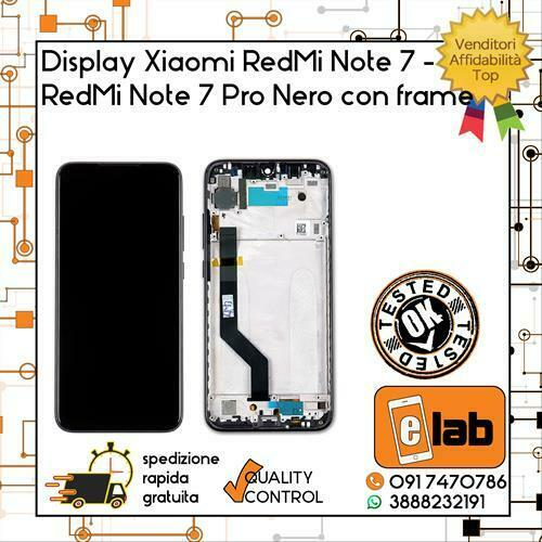 DISPLAY LCD TOUCH SCREEN XIAOMI REDMI NOTE 7 7 PRO NERO CON FRAME SCHERMO