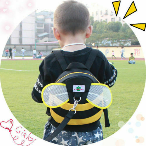 Kids Baby Anti Lost Walking Safety Backpack With Safety Nylon Tape School Bag US