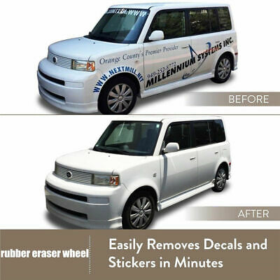 US! Decal Removal Eraser Wheel w/ Power Drill Arbor Adapter 4