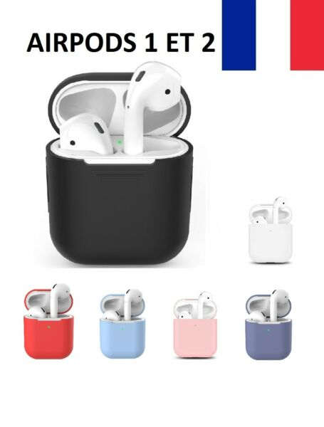 Housse Coque Protection Silicone Antichoc Ecouteur APPLE AIRPODS 1 et 2