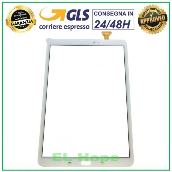 TOUCH SCREEN VETRO PER SAMSUNG GALAXY TAB A SM T580 T585 TABLET BIANCO BIADESIVO