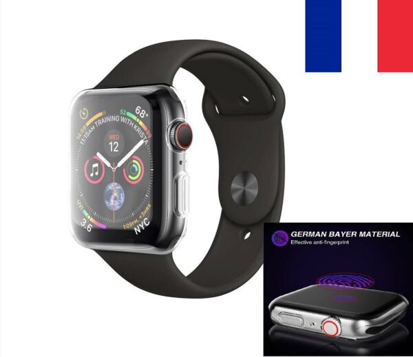 Coque Bumper Protection écran Tpu Case 360 Apple Watch 5 4 3 2 1 /38 40 42 44mm