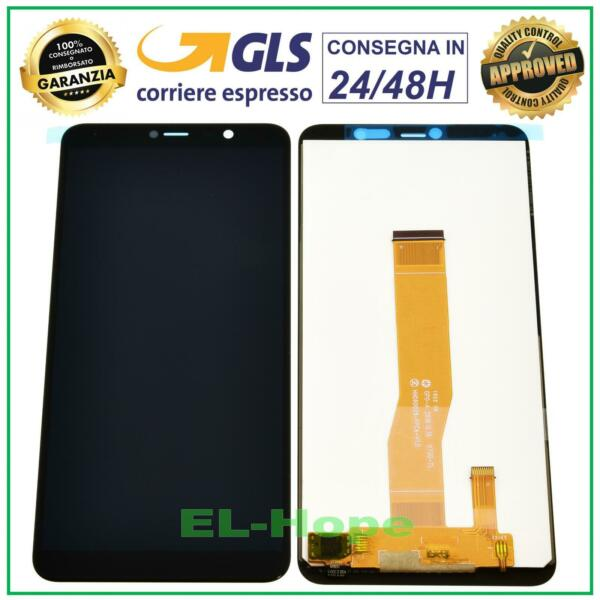 DISPLAY LCD WIKO Y80 4G LTE TOUCH SCREEN VETRO SCHERMO MONITOR ASSEMBLATO NERO