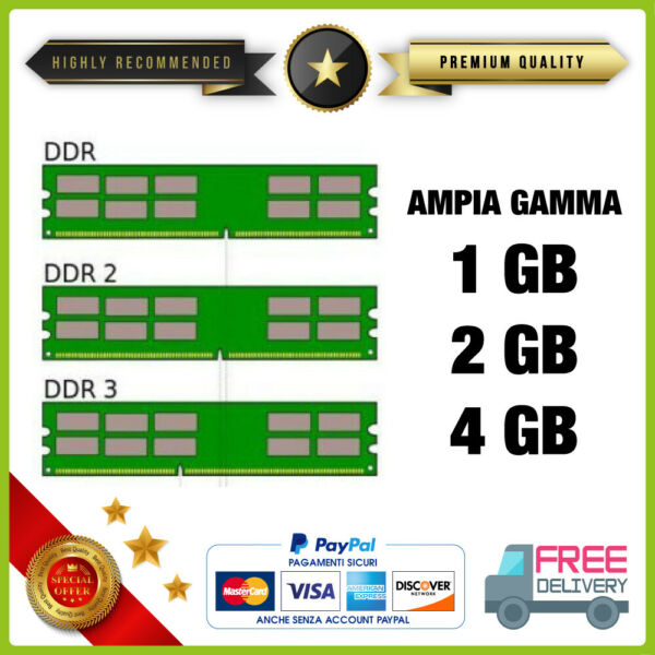 Memoria RAM DDR DDR2 DDR3 PC / DESKTOP / SERVER / MAC / PC2 1Gb 2Gb 4Gb 8Gb 16Gb