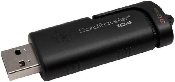 Kingston 32GB DataTraveler 104 - USB 2.0 - Colore Nero