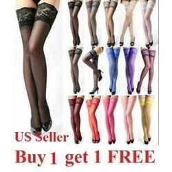 Kyпить Hot Lady's Lace Top Stay Up Thigh-High Stockings Woman Pantyhose Socks US Seller на еВаy.соm