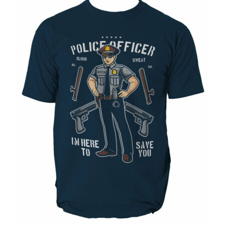 img-Police Officer mens t shirt Office Security Swat Fbi S-3XL