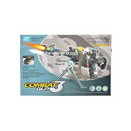 img-Combat 3 Kids Toy Army Machine Gun Pistol Lights and Sounds Action Figure