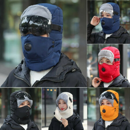 img-Thermal Trapper Hat With Glasses Warm Winter Face Mask Ski Windproof Cap Outdoor