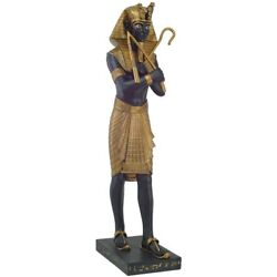Ebros 4 Foot Tall Egyptian Pharaoh Large King Tut Holding Crook And Flail Statue