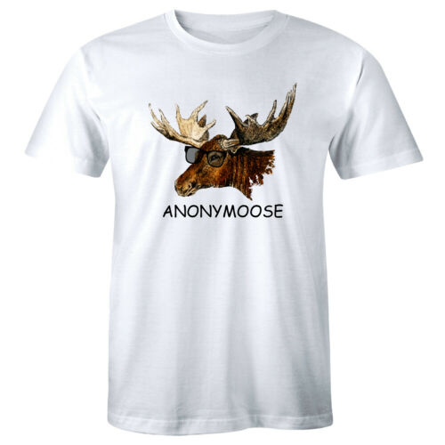 Anonymoose with Funny Anonymous Moose Wearing Sunglasses T-Shirt for Men