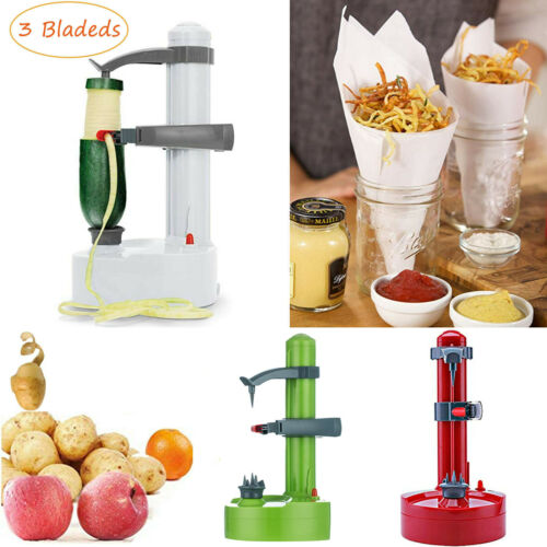 Stainless Steel Electric Automatic Peeler Potato Fruit Peeling Machine 3 Blades