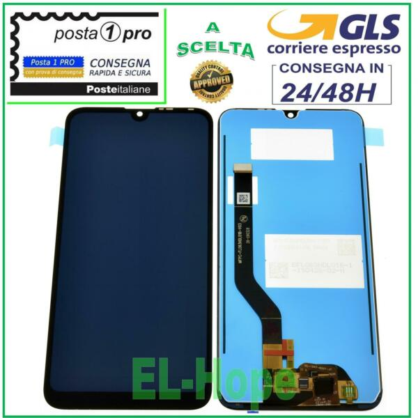 DISPLAY LCD HUAWEI Y7 2019 NERO DUB-LX1 LX2 L22 TOUCH SCREEN SCHERMO VETRO NERO