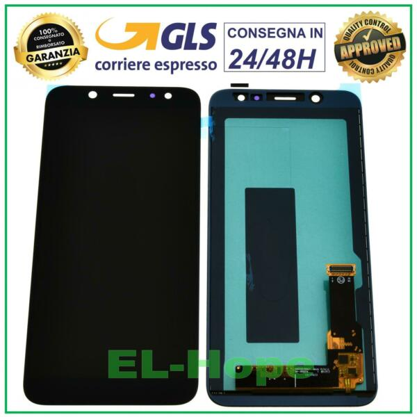 DISPLAY LCD SAMSUNG GALAXY A6 2018 A600 SM-A600F TOUCH SCREEN SCHERMO VETRO NERO