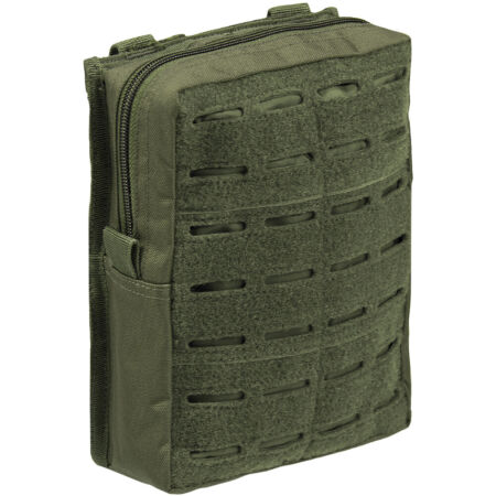 img-Mil-Tec Laser Cut Belt Pouch Large Military Police Airsoft Hunting MOLLE Olive