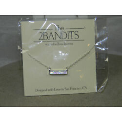 2Bandits Athens Opalescence Bar Necklace