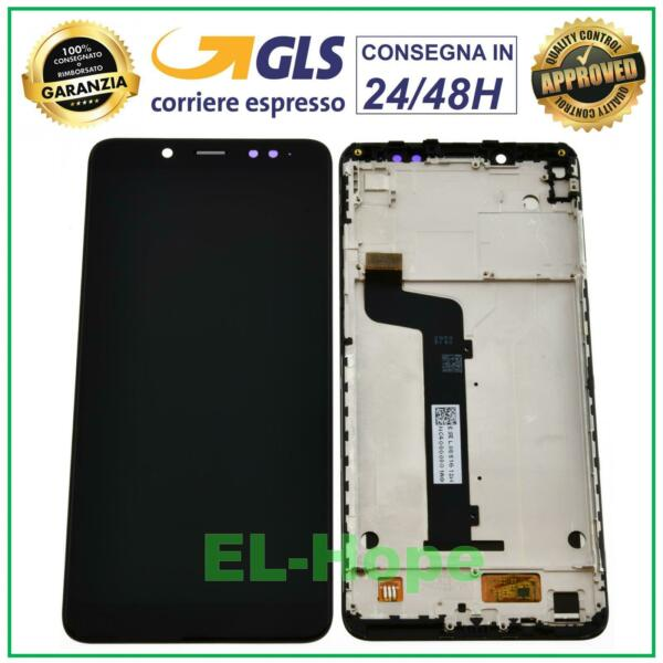 DISPLAY FRAME LCD XIAOMI REDMI NOTE 5 M1803E7SG TOUCH SCREEN SCHERMO VETRO NERO