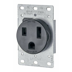 Kyпить Leviton  50 amps 250 volt Black  Outlet  6-50R  1 pk на еВаy.соm