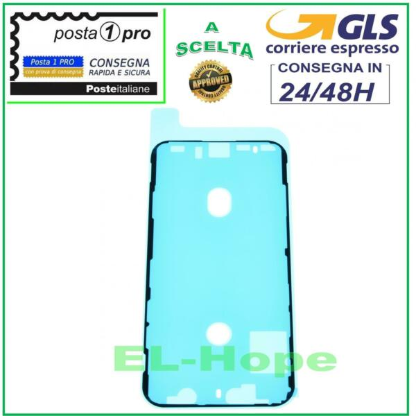 FRAME CORNICE ADESIVA BIADESIVO IMPERMEABILE TELAIO LCD DISPLAY APPLE IPHONE XS