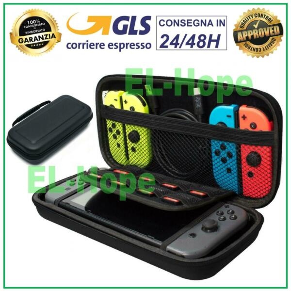 BORSA CUSTODIA CASE COVER RIGIDA ANTIURTO PER NINTENDO SWITCH GIOCHI E ACCESSORI