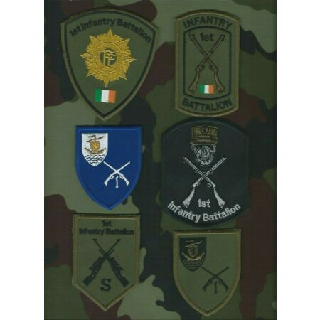 img-1st Infantry Battalion Shoulder Patches Irish Defence Forces Military Insignia