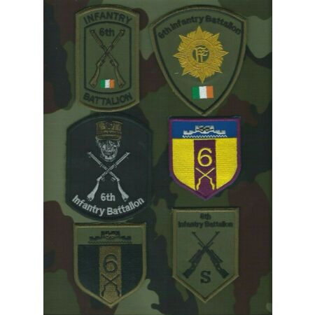 img-6th Infantry Battalion Shoulder Patches Irish Defence Forces Military Insignia