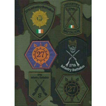 img-27th Infantry Battalion Shoulder Patches Irish Defence Forces Military Insignia