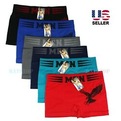 Kyпить Lot 6 Pack Mens Microfiber Boxer Briefs Underwear Compression Stretch Sport Flex на еВаy.соm