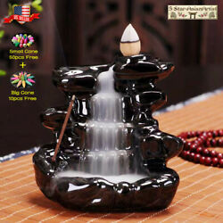 Kyпить Ceramic Backflow Incense Cone Burner Mountain Waterfall 097& 10pcs Cones Gift на еВаy.соm