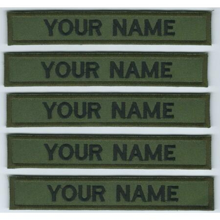 img-Irish Defence Forces Name Strips x 5 Irish Military Name Tags Army Insignia